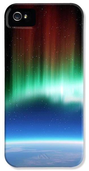 Aurora Borealis In The Night Sky IPhone 5 Case by Detlev Van Ravenswaay