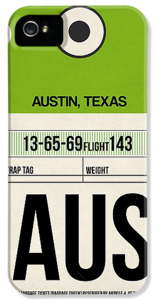 Austin Airport Poster 1 IPhone 5 Case by Naxart Studio