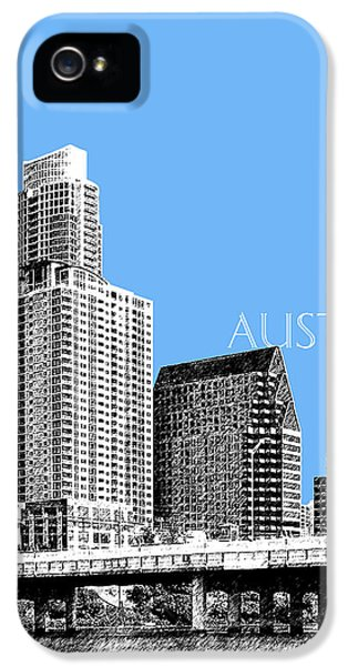 Austin Skyline - Sky Blue IPhone 5 Case by DB Artist