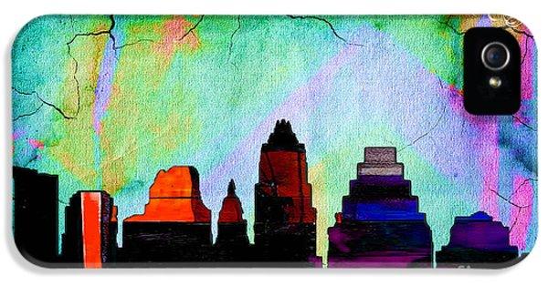 Austin Texas Skyline Watercolor IPhone 5 Case