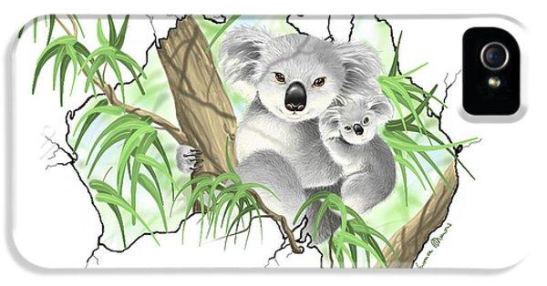Koala iPhone 5 Case - Australia by Veronica Minozzi