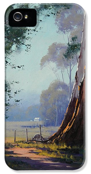 Kangaroo iPhone 5 Case - Australian Farm Painting by Graham Gercken