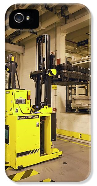 Automated Forklift At A Car Factory IPhone 5 Case by Jim West