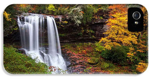Autumn At Dry Falls - Highlands Nc Waterfalls IPhone 5 Case by Dave Allen
