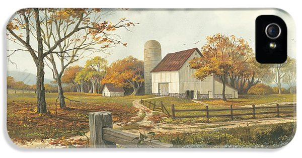 Autumn Barn IPhone 5 Case by Michael Humphries
