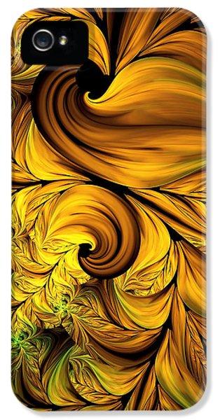 Autumn Returns Abstract IPhone 5 Case by Georgiana Romanovna