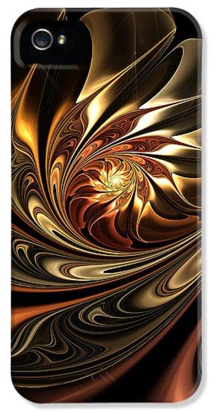 Autumn Reverie Abstract IPhone 5 Case by Georgiana Romanovna