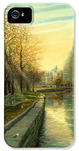 Hancock Building iPhone 5 Case - Autumn Serenity II by Doug Kreuger