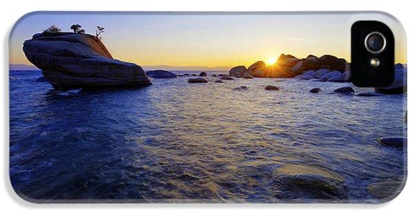 Beach Sunset iPhone 5 Case - Awaiting by Chad Dutson