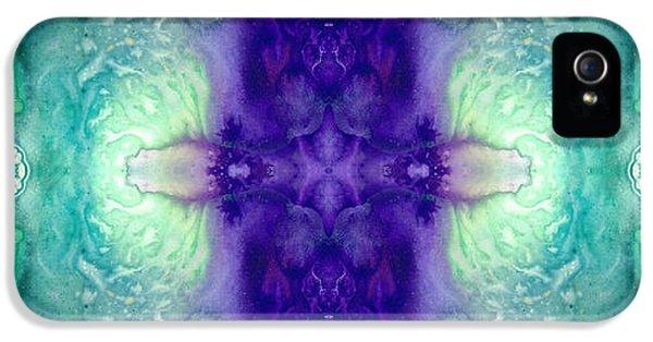 Awakening Spirit - Pattern Art By Sharon Cummings IPhone 5 Case by Sharon Cummings