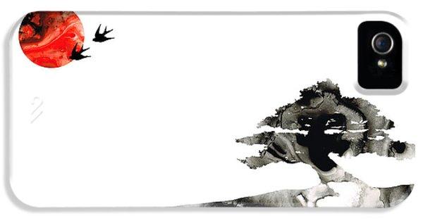 Swallow iPhone 5 Case - Awakening - Zen Landscape Art by Sharon Cummings