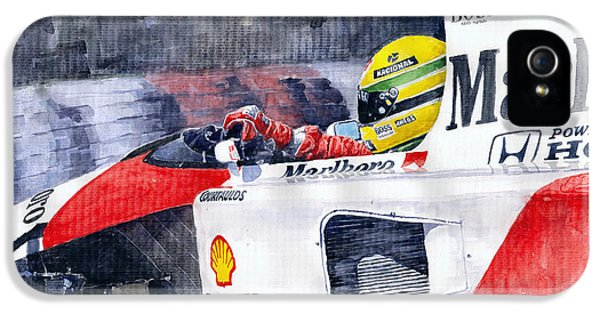 Ayrton Senna Mclaren 1991 Hungarian Gp IPhone 5 Case by Yuriy Shevchuk