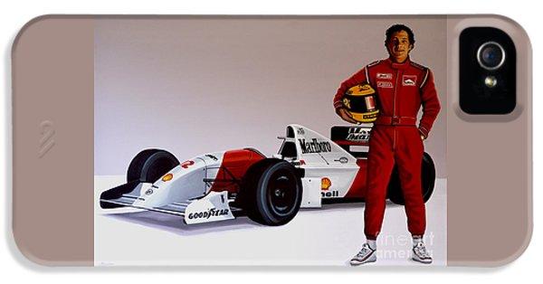 Ayrton Senna IPhone 5 Case by Paul Meijering
