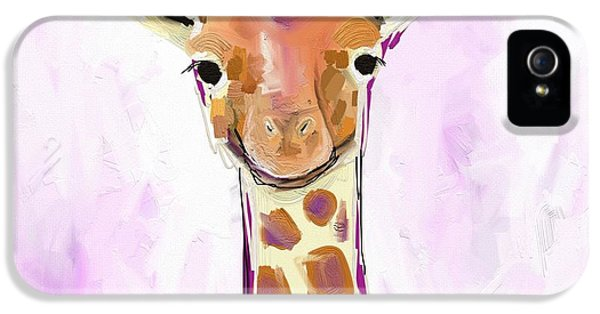 Orange iPhone 5 Case - Baby Giraffe  by Cathy Walters