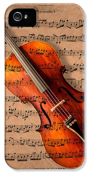 Violin iPhone 5 Case - Bach On Cello by Sheryl Cox