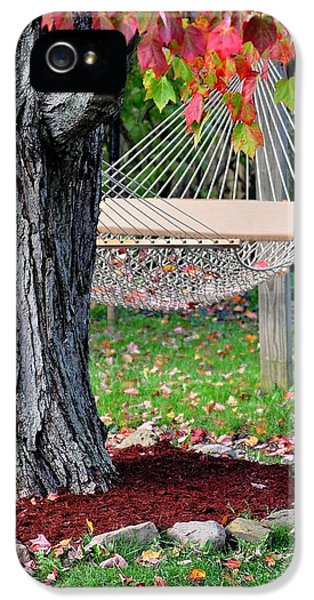 Backyard Hammock IPhone 5 Case by Frozen in Time Fine Art Photography