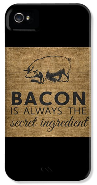 Pig iPhone 5 Case - Bacon Is Always The Secret Ingredient by Nancy Ingersoll