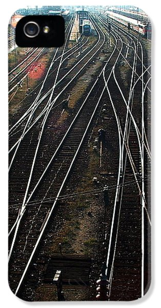 IPhone 5 Case featuring the photograph Bahnhof Cottbus by Marc Philippe Joly