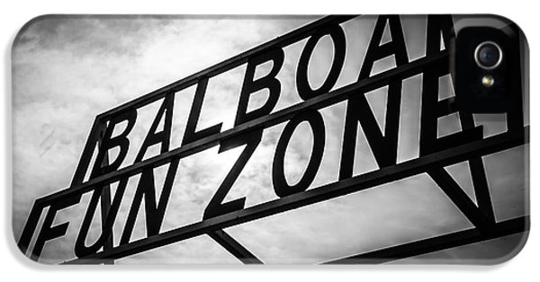 Balboa Fun Zone Sign Picture Newport Beach IPhone 5 / 5s Case by Paul Velgos