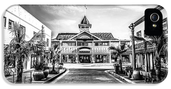 Balboa Pavilion Newport Beach Black And White Picture IPhone 5 Case by Paul Velgos
