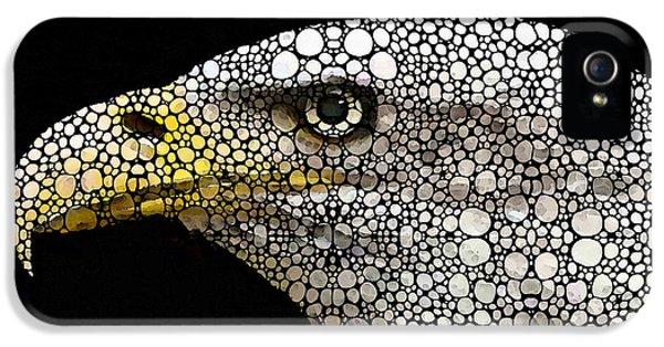 Bald Eagle Art - Eagle Eye - Stone Rock'd Art IPhone 5 Case