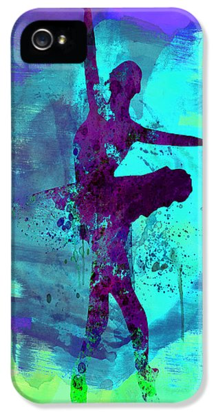 Ballerina Watercolor 4 IPhone 5 Case by Naxart Studio