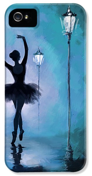 Ballet In The Night  IPhone 5 Case by Corporate Art Task Force