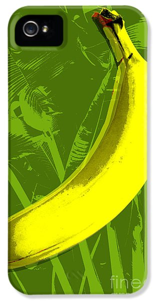 Banana Pop Art IPhone 5 Case by Jean luc Comperat