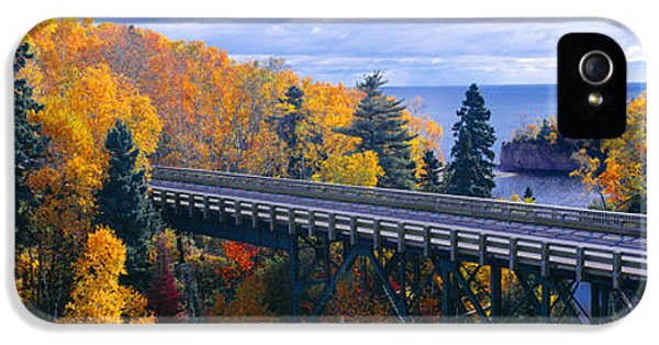 Baptism River Into Lake Superior IPhone 5 Case by Panoramic Images