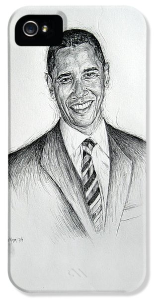 Barack Obama 2 IPhone 5 Case by Michael Morgan