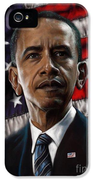 Barack Obama IPhone 5 Case by Andre Koekemoer