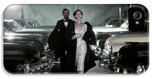 Barbara Mullen With Cars IPhone 5 Case by John Rawlings