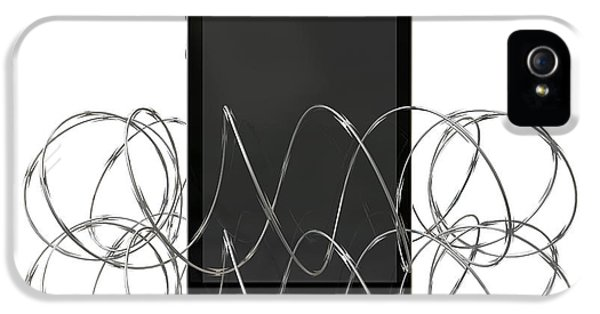 Barbed Wire Protected Smartphone IPhone 5 Case by Allan Swart