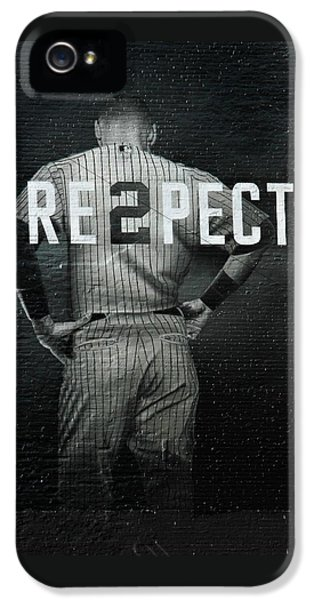 Derek Jeter iPhone 5 Case - Baseball by Jewels Blake Hamrick