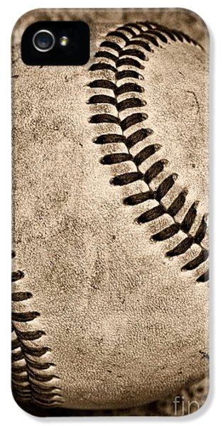 Baseball iPhone 5 Case - Baseball Old And Worn by Paul Ward