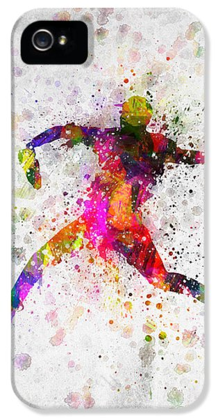 Softball iPhone 5 Case - Baseball Player - Pitcher by Aged Pixel