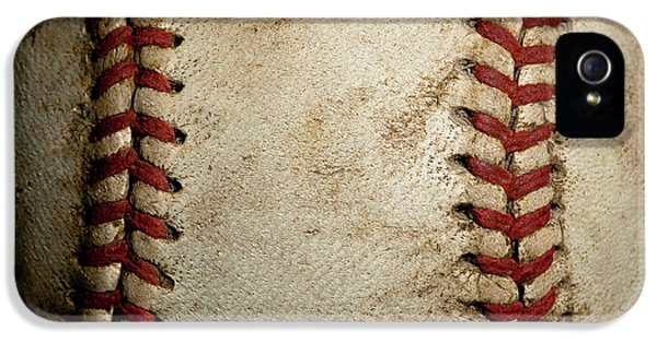 Baseball iPhone 5 Case - Baseball Seams by David Patterson