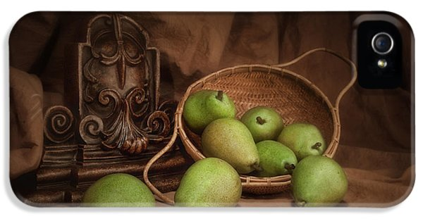 Basket Of Pears Still Life IPhone 5 Case by Tom Mc Nemar