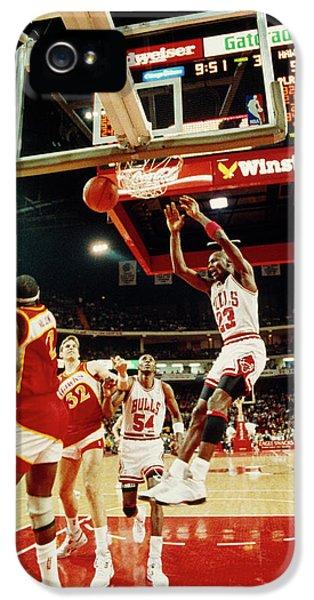 Basketball Match In Progress, Michael IPhone 5 Case