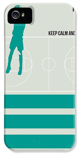 Basketball Poster IPhone 5 Case by Naxart Studio