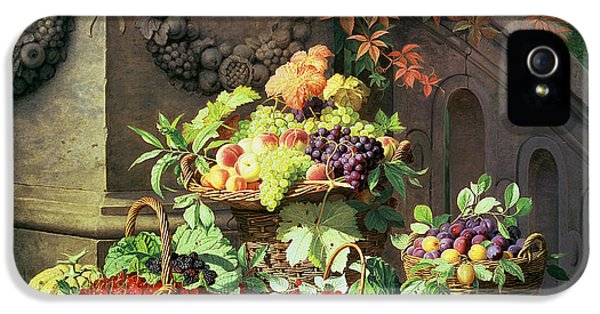 Baskets Of Summer Fruits IPhone 5 Case by William Hammer