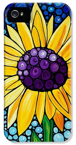 Sunflower iPhone 5 Case - Basking In The Glory by Sharon Cummings