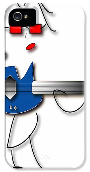IPhone 5 Case featuring the digital art Bass Guitar Girl by Marvin Blaine