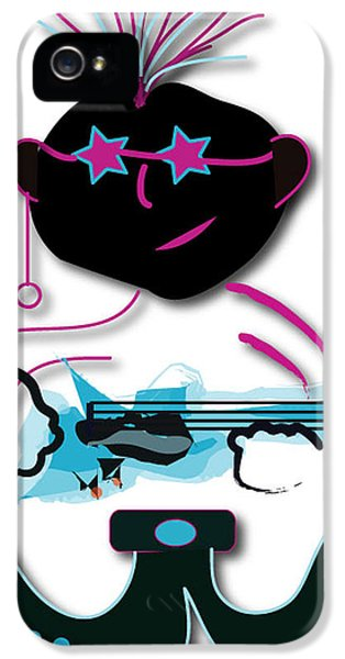 IPhone 5 Case featuring the digital art Bass Man by Marvin Blaine