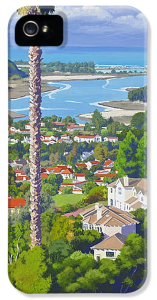 Pacific Ocean iPhone 5 Case - Batiquitos Lagoon 2014 by Mary Helmreich