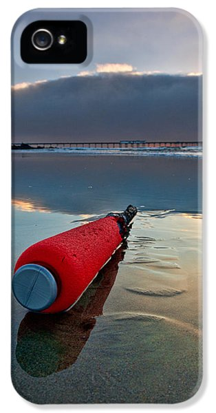 Batter-ed By The Sea IPhone 5 Case by Peter Tellone