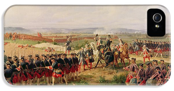 Swallow iPhone 5 Case - Battle Of Fontenoy, 11 May 1745 The French And Allies Confronting Each Other by Felix Philippoteaux