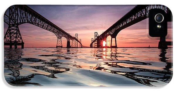 Sunset iPhone 5 Case - Bay Bridge Reflections by Jennifer Casey