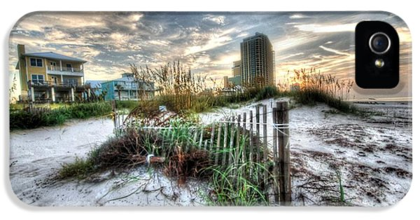 Beach And Buildings IPhone 5 Case by Michael Thomas