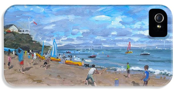 Cricket iPhone 5 Case - Beach Cricket by Andrew Macara
